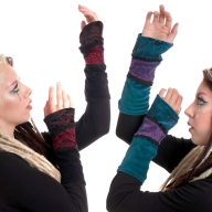 Velvet and Lace Gothic Faerie Arm Warmers Armwarmers - Avey Armwarmers (AS7049) by Altshop UK