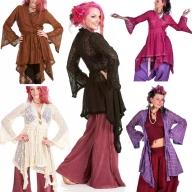 Ibiza Wrap Jacket, pagan Gypsy boho kimono vintage-style hippy top - Lace wrap (DBANLA) by Altshop UK