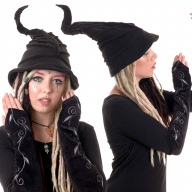 Witch Hat, Bendable Posable Fleece Adult Witches Wizard Hood - Witch Hat (HT2105) by Altshop UK