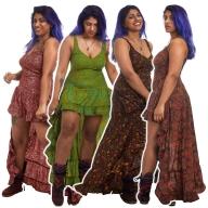 High Low Gypsy Boho Dress - New Nani Dress SF (MESSFND2) by Altshop UK