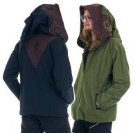 Mens Wizard Hood Jacket, Psy Trance Pixie Jacket - Kadir Jacket (MJK4021) by Altshop UK