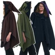 Mens Wizard Hood Poncho, Elf Cosplay Pixie Hood Jacket - Potter Poncho (MPH001) by Altshop UK