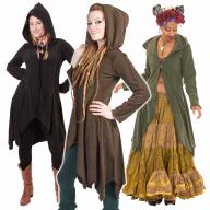 Pixie Fleece Fairy Jacket, Plus Size Psy Festival Cardigan - Polarize Cardigan (WCA1013) by Altshop UK
