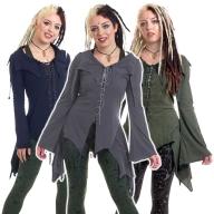 Pagan Tendrils Lace-Up Dress, Boho Fae Top - RikRak Dress (WDR5062) by Altshop UK