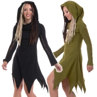 Pixie Witch Cowl Neck Hooded Long Sleeve Dress - Angel Dress (WDR5077) By Altshop UK