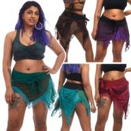 Pixie Ragged Tutu Elf Skirt, grunge festival skirt - Elvish Skirt (WSELF) by Altshop UK