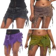 Psy Trance Skirt, Stonewash Mini Skirt - Stonewash Z Skirt (WSSTZSK) by Altshop UK