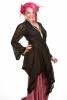 Ibiza Wrap Jacket, pagan Gypsy boho kimono vintage-style hippy top in Black - Lace wrap (DBANLA) by Altshop UK