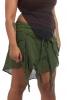 Goa Psy Trance Skirt, Hippy Mini Skirt in Dark Green - Jute Shivay Skirt (DCJUSH) by Altshop UK