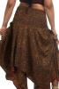 Upcycled Silk Pixie Skirt, Boho Fairy Floaty Skirt in Brown Vines - Butterfly Skirt (MEM12) by Altshop UK