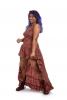 High Low Gypsy Boho Dress in Red Garlands - New Nani Dress SF (MESSFND2) by Altshop UK