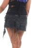 Psy Trance Skirt, Stonewash Mini Skirt in Black - Stonewash Z Skirt (WSSTZSK) by Altshop UK