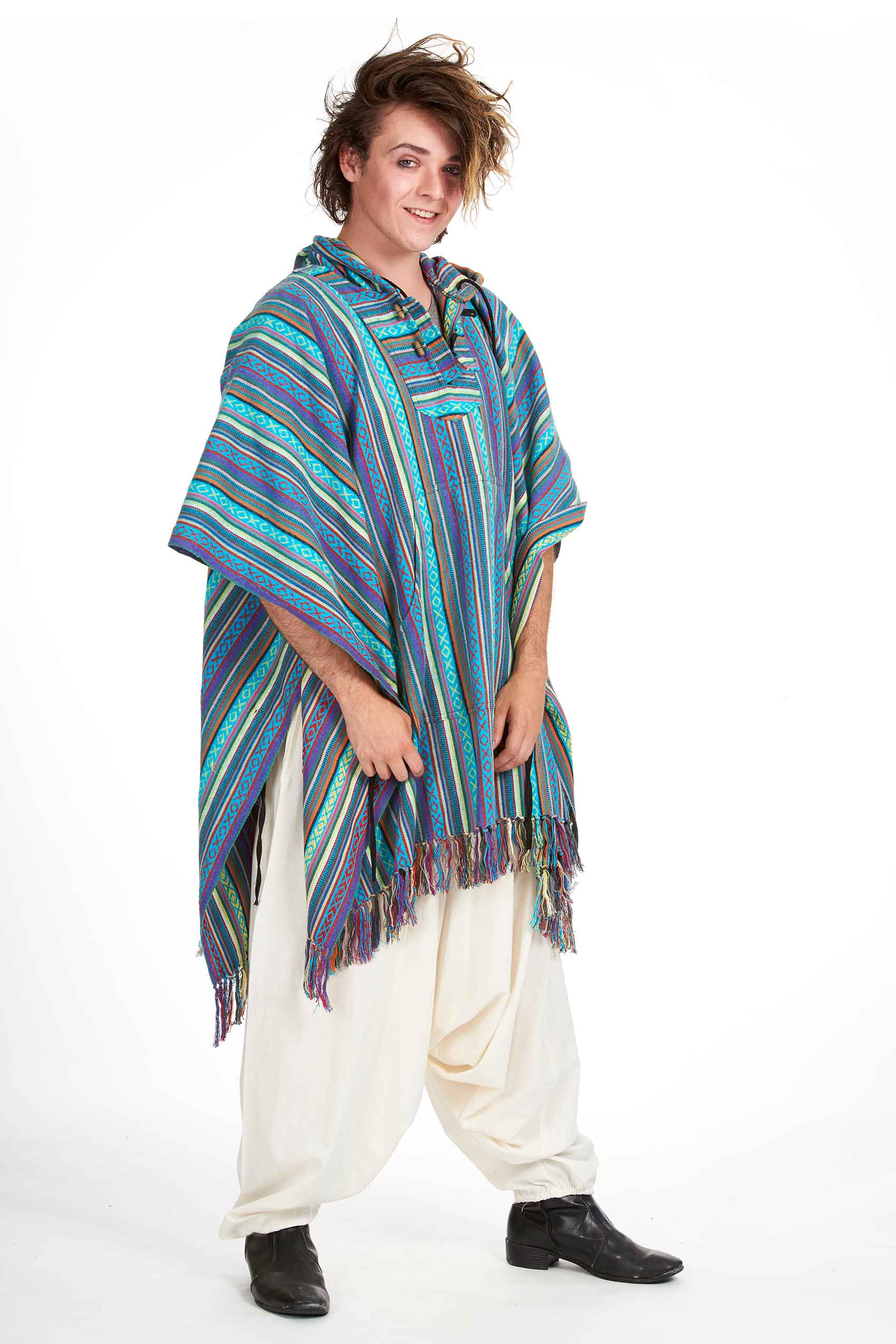 Festival Hippy Poncho, hooded plus size festival clothing ...