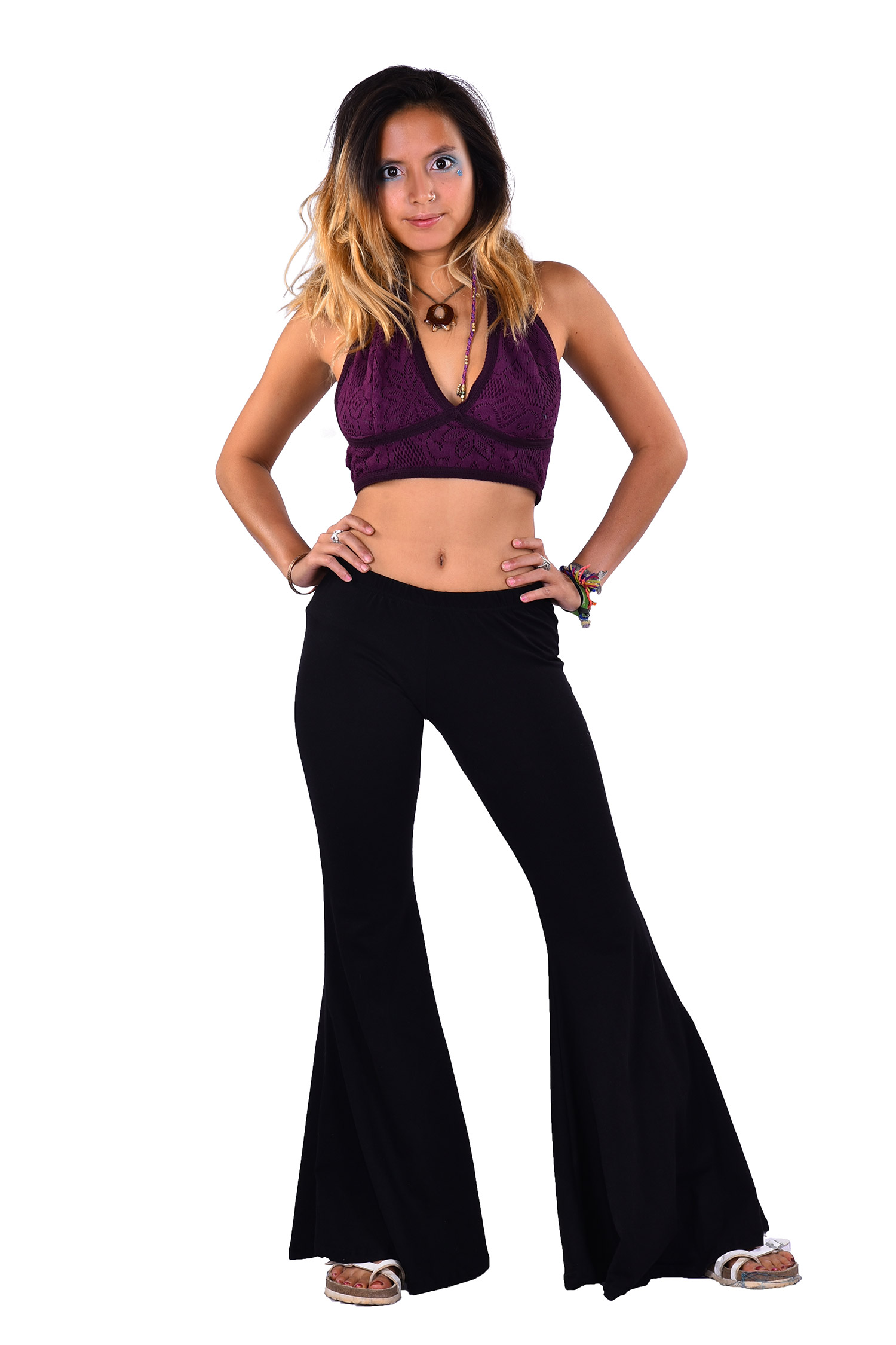 Bell Bottoms Boho Trousers Yoga Stretch Flare Pants