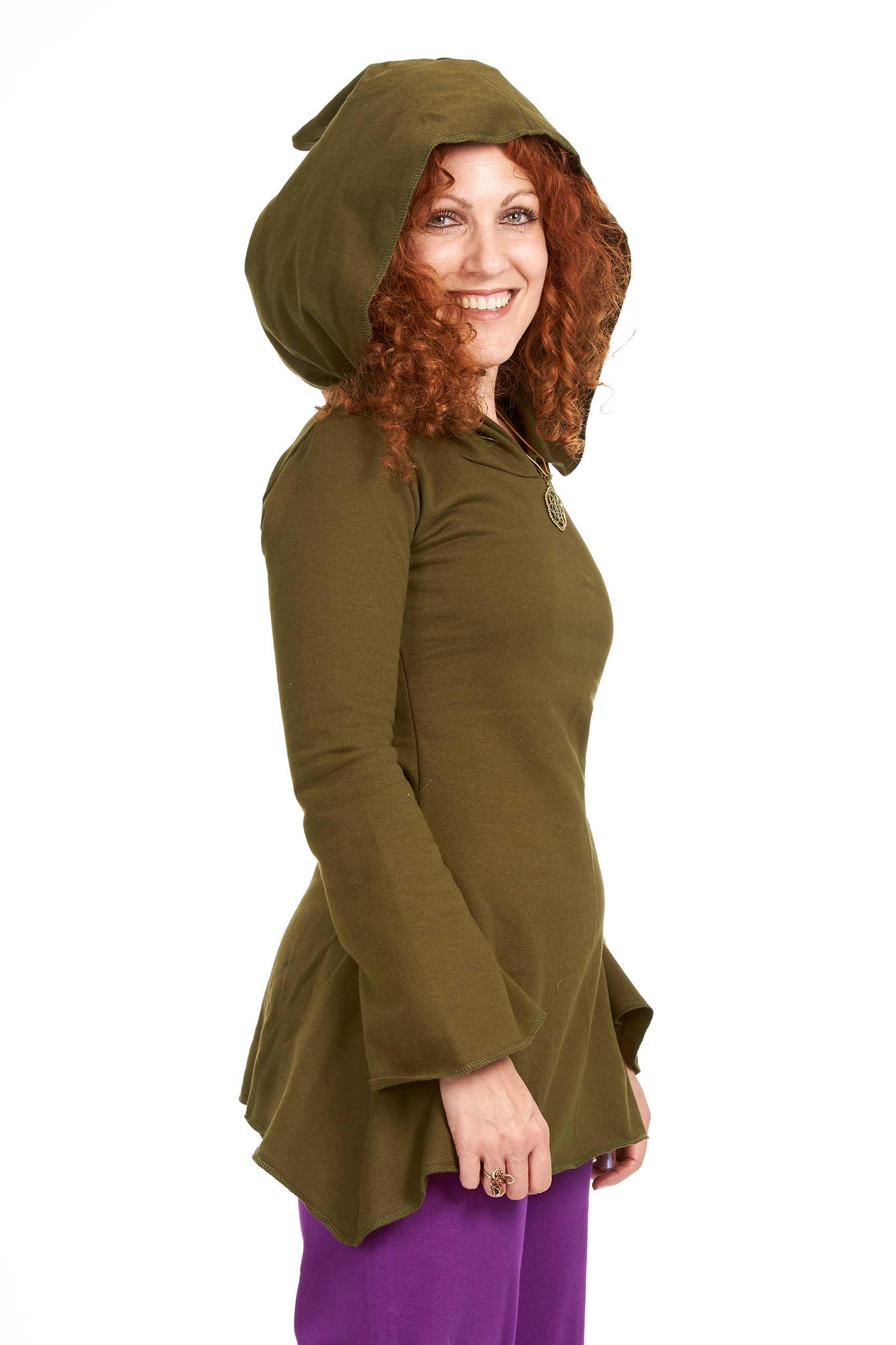 Pixie Skater Dress Long Sleeve Fleece Dress Winter