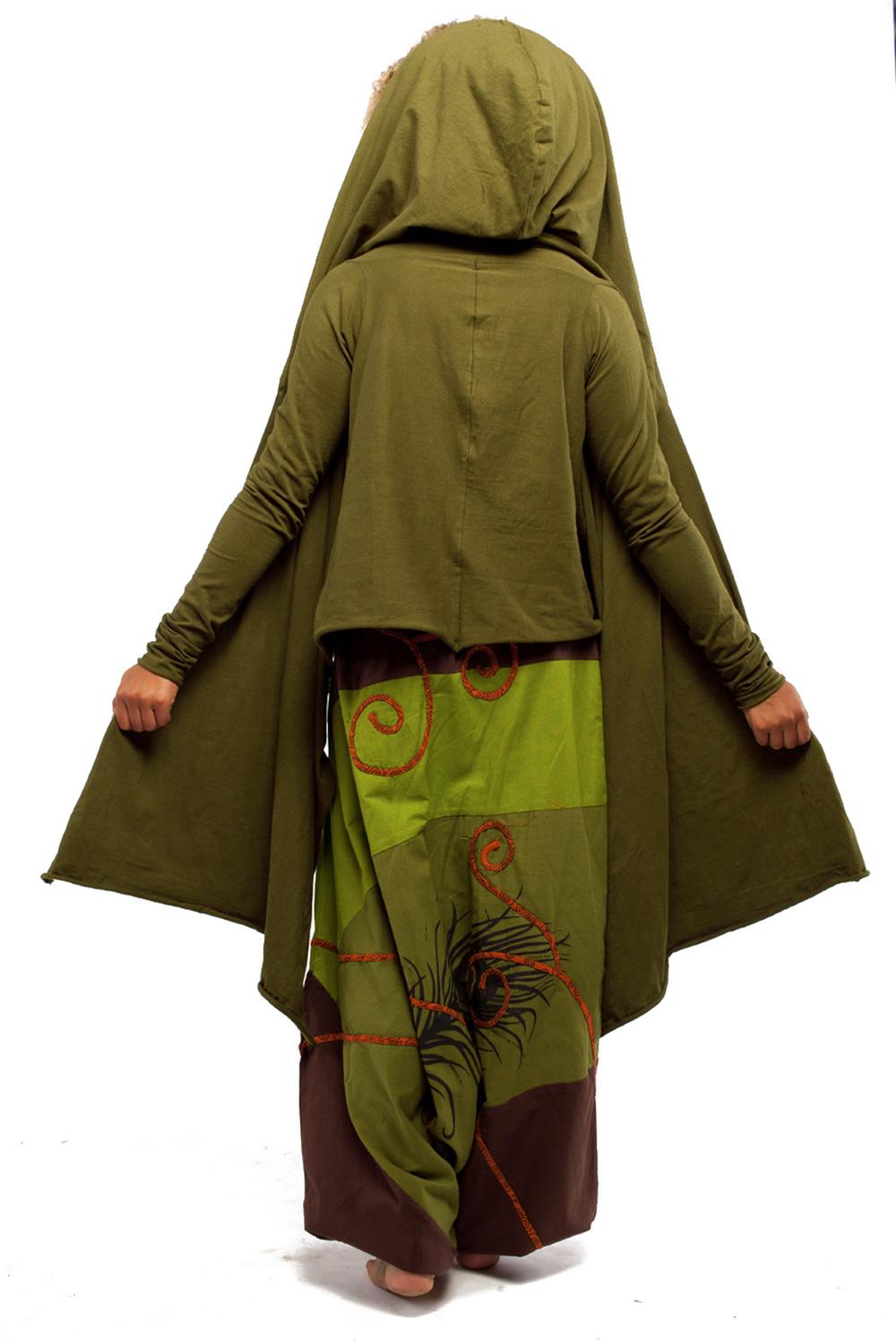 Hooded Wrap Sleeved Poncho Top Altshop Uk