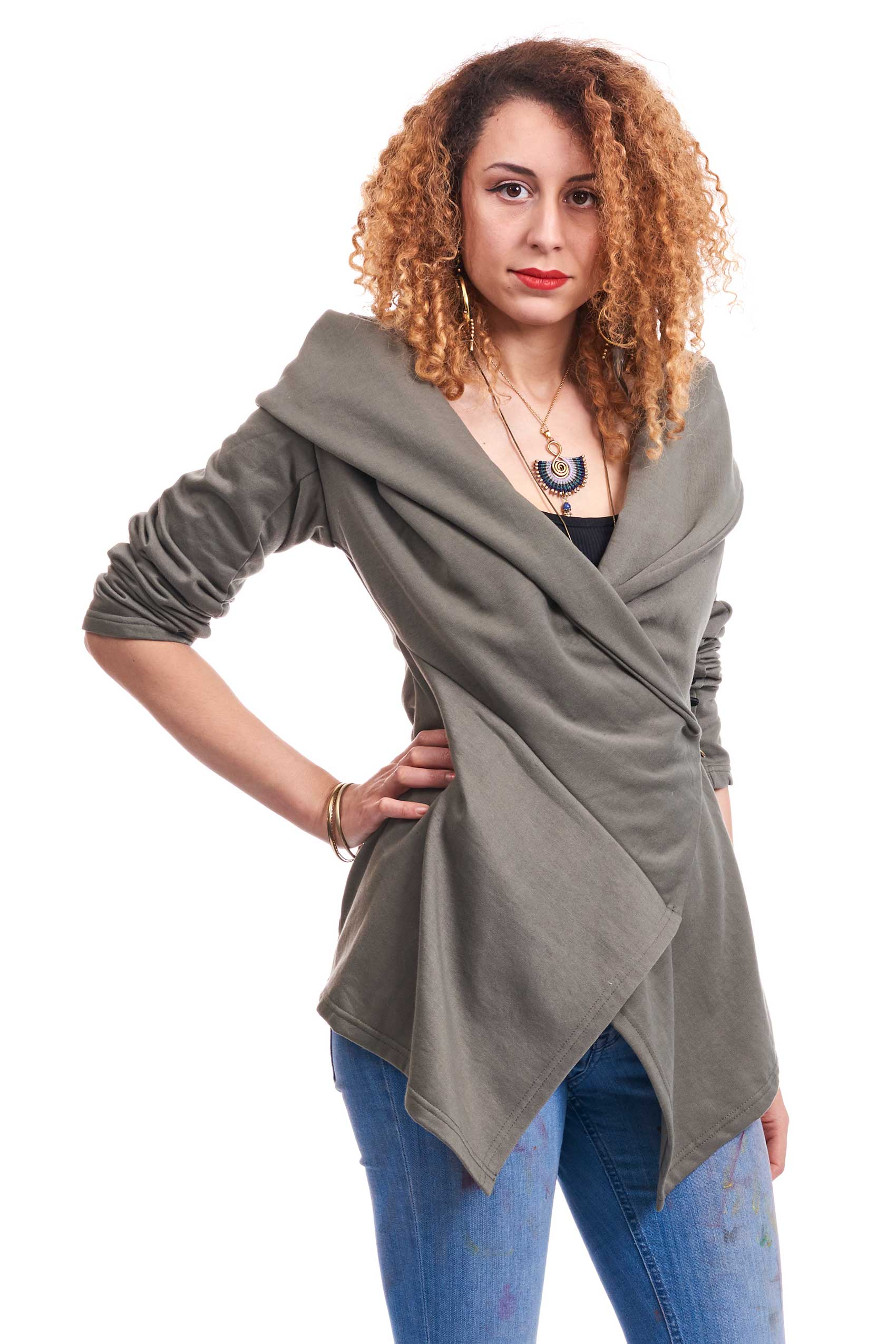 bohemian wrap jacket boho jacket boho chic cardigan altshop uk. Black Bedroom Furniture Sets. Home Design Ideas