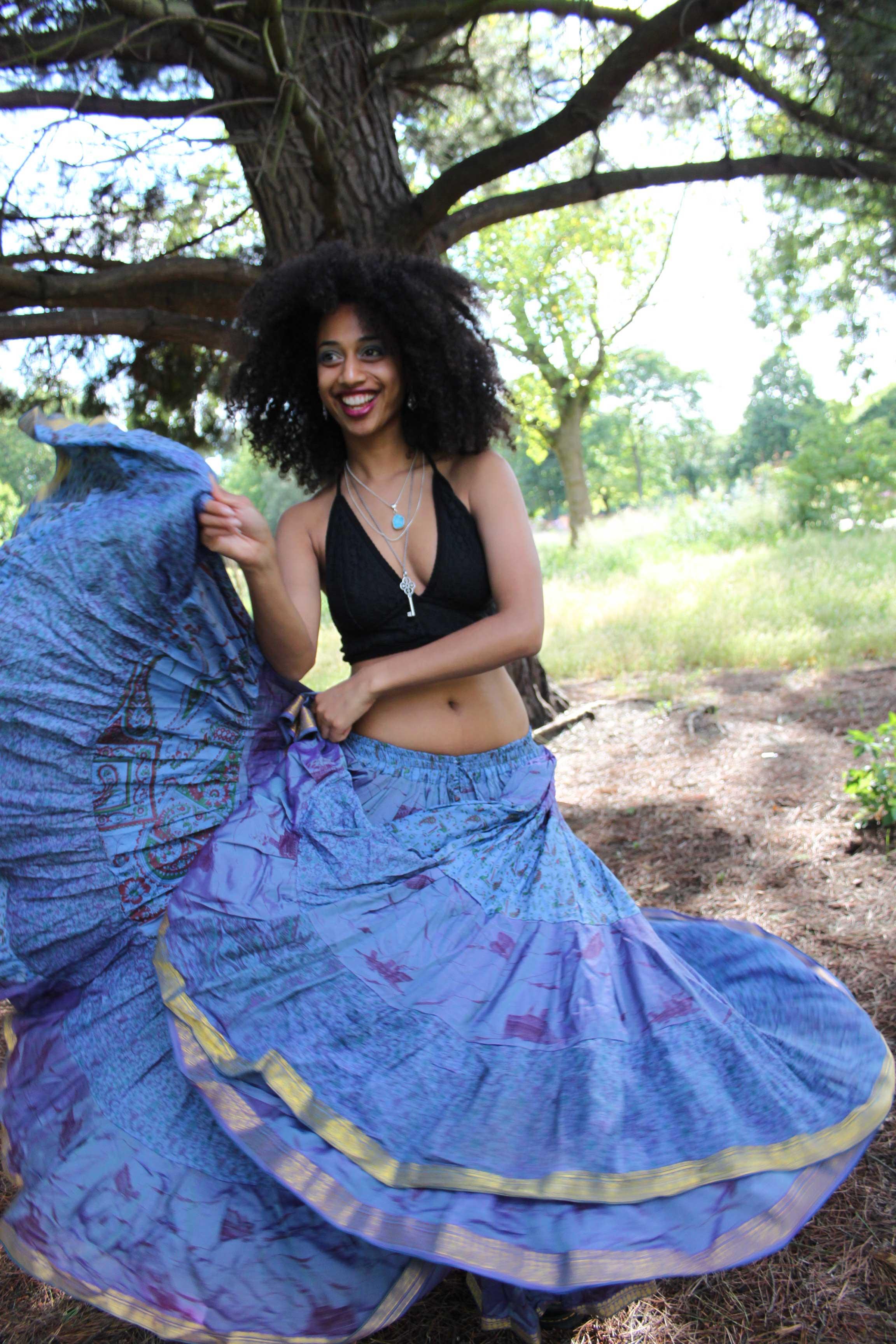 25 Yard Gypsy Bellydance Skirt Tribal Fusion Dance Skirt