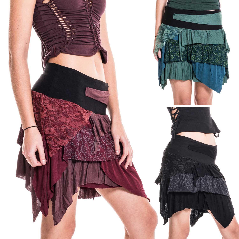 ragged pixie skirt festival fairy psy trance skirt