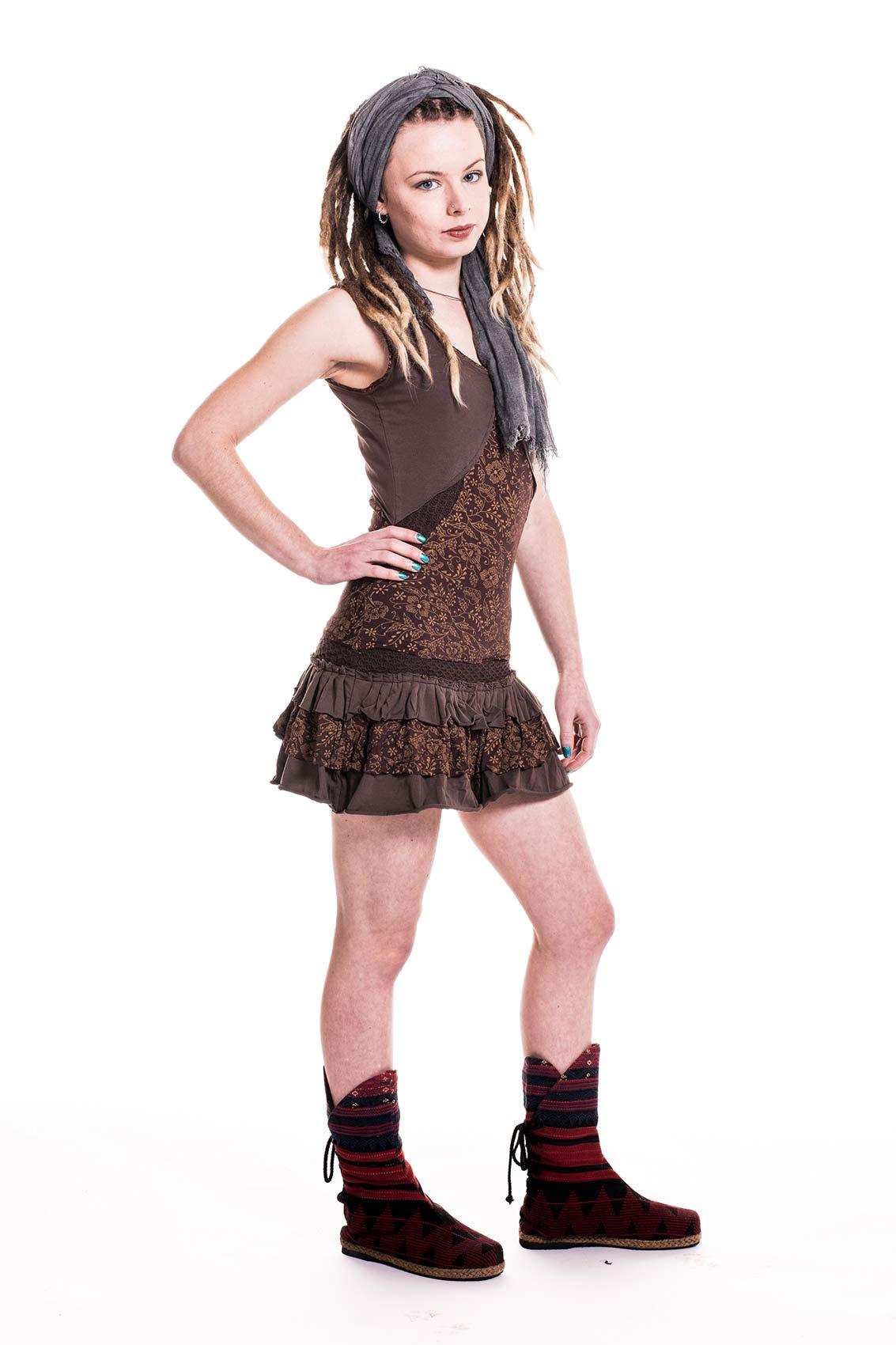 Woodland Spirit Minidress Doof Hippie Pixie Summer Dress