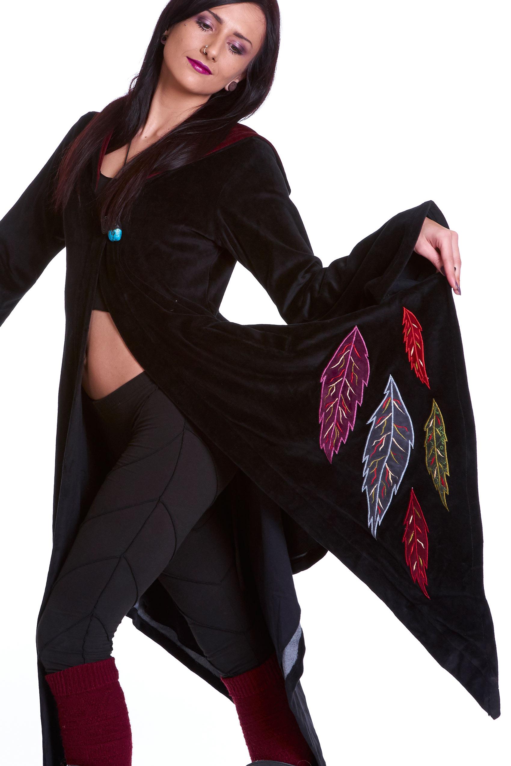 pagan goddess cloak coat velvet woodland faery boho jacket altshop uk. Black Bedroom Furniture Sets. Home Design Ideas