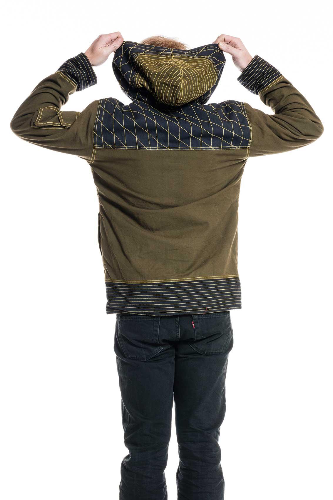 festival jacket psy trance boho army coat with hoodie altshop uk. Black Bedroom Furniture Sets. Home Design Ideas