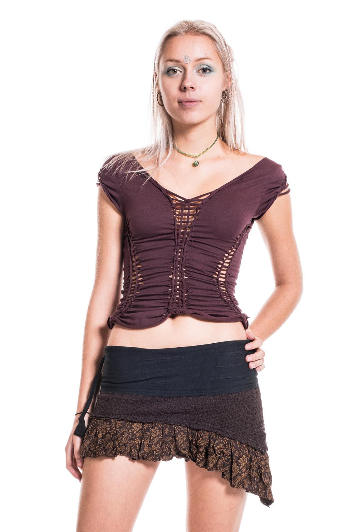 crochet mini skirt boho festival pixie skirt  altshop uk