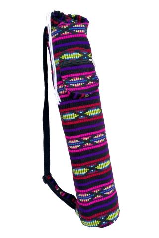 Hippy Yoga Bag, Colourful Embroidered Yoga Mat Bag in Shambala - Woven Yoga Bag (AGYOGA) by Altshop UK