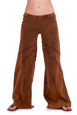 Hippy Psy Trance Trousers, Goa Hippie Festival Pixie Pants in Brown - New Mango Trousers (CH403) by Anki
