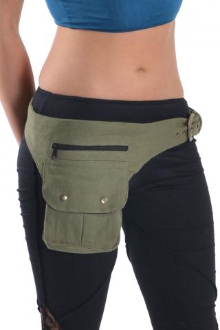 Psy trance hippy Waist Bag/ festival Party Pocket Belt - Grey
