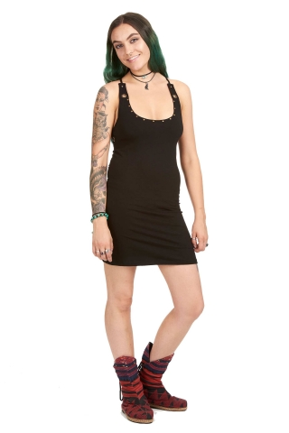 Zen Tribal Bodycon Dress, petite yoga mini dress in Black - South Dress (DEVSOUD) by Altshop UK
