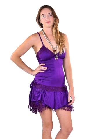 Corset Back Pixie Dress, Festival Fae Mini Dress in Purple - Starshine Dress (DMSTAR) by Altshop UK