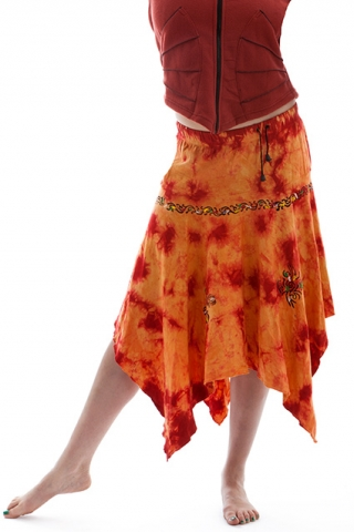 ORANGE FIRE DANCE PIXIE SKIRT