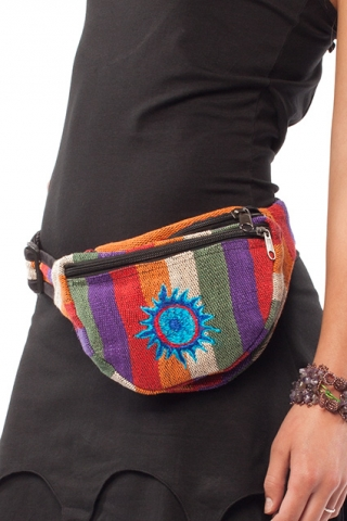 Blue Star Hippy Bumbag, hippie festival fanny pack