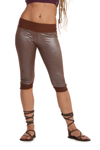 Festival Fairy Rave Tights, Metallic Cropped Pixie Tights in Brown - Fairy Tights (ROKFLEG) by Altshop UK