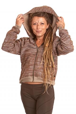 Natural Handloom Khadi Cotton Hoodie - Khadi Hoodie (ROKPKHH) by Altshop UK