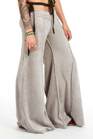 Velvet Flow Pants, extra-wide long bellydance trousers in Grey - Velvet Flow Pants (TLP224V) by Altshop UK