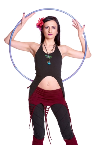 Backless Organic Pixie Top, Festival Goa Boho Yoga Clothing in Black - No Butterfly Top (TRT363P) by Altshop UK