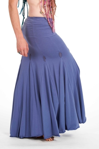 Mermaid Fishtail Skirt, organic cotton long Goa psy faery skirt in Blue - Booty Skirt (TSK230) by Altshop UK