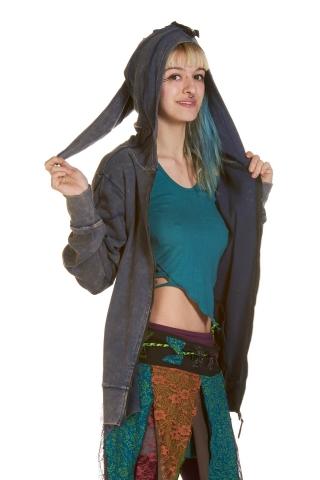Pixie Hood Festival Jacket in Blue - Berlin Jacket (UF401) by Anki