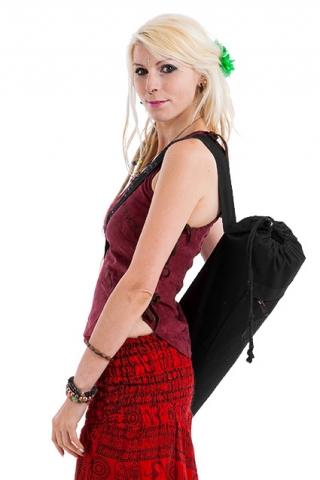 Flower Of Life Lotus Yoga Mat Bag - Black