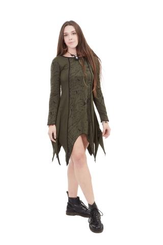 Little Bird Print Pixie Dress In Green - Little Bird Dress (WDR5911) by Altshop UK