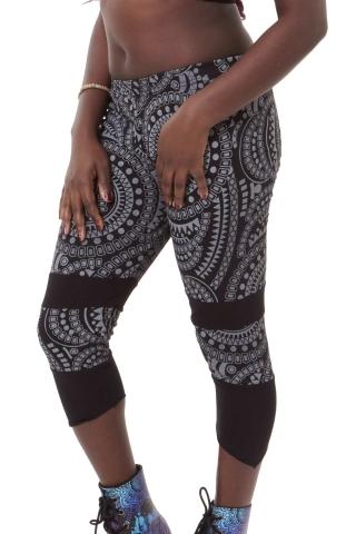 Tribal Pixie Leggings, Hippy Festival Leggings in Black - Tribal Leggings (WTR5125) by Altshop UK