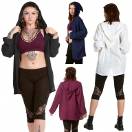Loose Pixie Hood Cardigan - Boucle Pixie Cardigan (AAPIXC) by Altshop UK