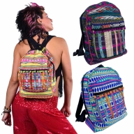 Pompom Fringed Rucksack, Colourful Festival Day Pack - Trim Rucksack (AGTRIBA) by Lovely Jubbly