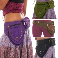 Sturdy Festival Pocket Belt with Lace and Studs - Lace Belt (AYALACE) by Altshop UK