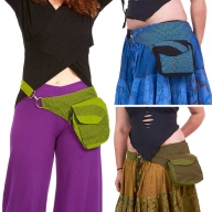 Cotton Pocket Belt, Psy Trance Fanny Pack, Festival Bumbag - Japan Belt (BG5033) by Altshop UK