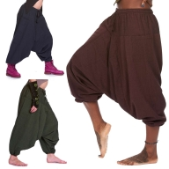 Fleece Lined Ali Baba Trousers - Shyama Fleece Ali Babas (BHIMFLA) by Altshop UK