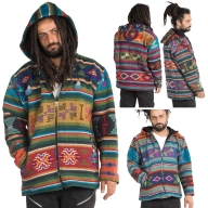 Hand-Woven Wool Hoodie, men's winter hippy jacket - Yathra Jacket (BHIMYAT) by Altshop UK