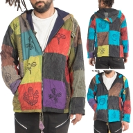 Mens Hippy Jacket, Patchwork Hippie Jacket - BTC Patch Jacket (BTCPATCH) by Altshop UK